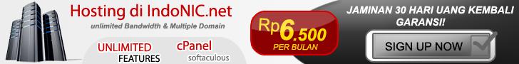 IndoNIC.net - Web Hosting Murah (cPanel), Gratis Domain